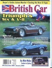 British Car Magazine December 2001 Triumph Six V-8 EX No ML 053017nonjhe