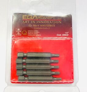 "1/8"" Allen Key 50mm HEX INSERT BITS 1/4"" Screwdriver Insert PK 1 2 5 or 10"