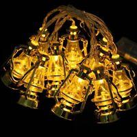 1Set EID Ramadan Moon Party Decor Islamic LED Lantern String Light Lamp Supplyxk