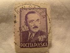 Poland Stamp 1948 Scott 440 A154 Purple 10 Zt