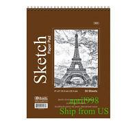 "BAZIC Top Bound Spiral Premium Sketch Pad 6"" x 8"", 50ct/book #5043"