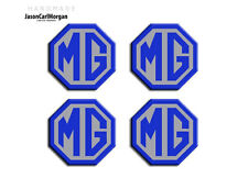 MG ZS LE500 Alloy Wheel Centre Caps Badges Blue & Silver 45mm Logo Cap Badge