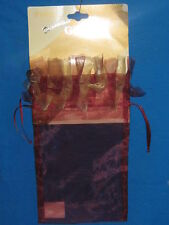 "GIFT BAG-SHEER BURGUNDY WITH GOLD TRIM -5 1/2""  X  7"""