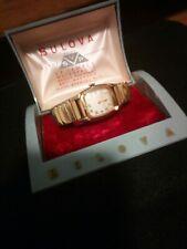 Vintage Bulova  Watch Presentation Box Lovely Classic Watch 17J 10kgf Band