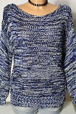 ZARA Pullover Gr. M blau-weiß Häkel Pullover