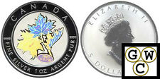 2003 Hologram 'Lucky Maple' Silver Maple Leaf 1oz .9999 Fine *No Tax (10678)