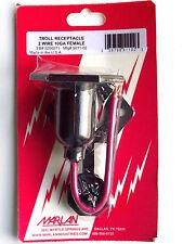 Troll Plug - Trolling Motor Receptacle 2 Wire 10 Gauge Female - Mar-Lan 5011-02