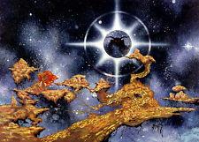 IRISH FANTASY ART NUADA AND THE GOD OF THE OTHERWORLD 23x16 By Jim FitzPatrick