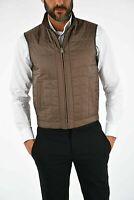 £599 CORNELIANI NWTS Leather Details Body Warmer VEST Size 34 UK 44 Italian