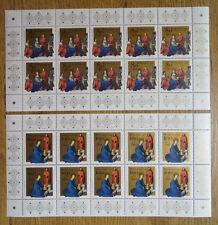 Bund 1770 - 1771 KB postfrisch BRD Zehnerbogen 10 er Bogen Weihnachten 1994 MNH