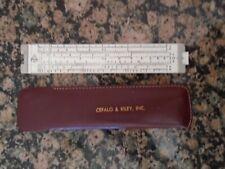 Vintage 1950's Pickett Slide Rule Model 61 in Leather Case
