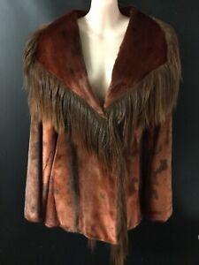 Vintage Unique Rare Fur Hair Coat 12 -14