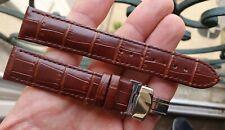 BRACELET CUIR CROCO BOUCLE DEPLOYANTE *20 MM* pour MONTRE ANCIENNE CHRONO DIVER