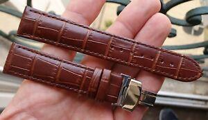 BRACELET CUIR CROCO BOUCLE DEPLOYANTE *24 MM* pour MONTRE ANCIENNE CHRONO DIVER