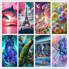 5D Diamond Painting Kits Cross-Stitching Embroidery Landscape Arts Crafts Gift #