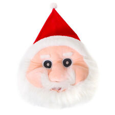 SANTA CLAUS MASCOT HEAD CHRISTMAS FANCY DRESS COSTUME PLUSH PARTY ACCESSORY