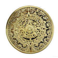 Cool Gold Plated Mayan Aztec Calendar Souvenir Commemorative Coin Collection CN