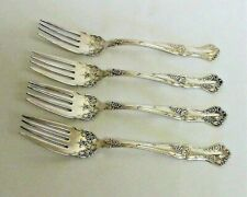 Set of 4 VINTAGE GRAPE 1904 Fish / Pastry Forks 1847 Rogers Bros. Silverplate