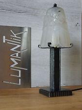 RARE 1 ancienne lampe fer forgé avec Tulipe DEGUÉ  - Lampe ART DECO qualité