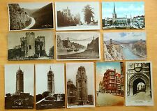 11 vintage Postcards All Bristol & Burrington Coombe England UK 7 rppc 1905