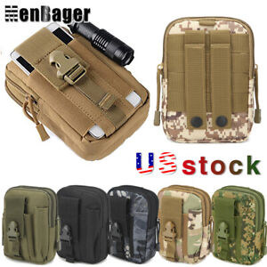 Men Tactical Belt Waist Pack Military Running Camping Pouch Travel Molle Bag US