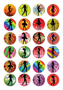 24 edible Dance dancer Iced Icing Fondant 4cm Cupcake Toppers Cake