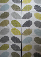 Orla Kiely Scribble Seagrass 200cm / 100cm wide lightweight CENTRAL STEM SALE