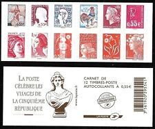 Carnet Timbres France Autoadhésifs N°BC1518 - Les Visages de la 5ème République
