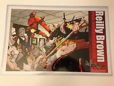 Deadpool Contract Negotiations SIGNED print Reilly Brown Cable 49 Marvel 11 x 17