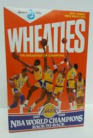 Wheaties LA Lakers 1987-1988 NBA World Champions Back-to-Back Cereal - UNOPENED