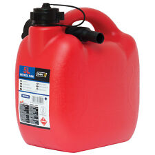 Heavy Duty Red Plastic 5 L Jerry Fuel Oil Water Petrol Can Container & Funnel
