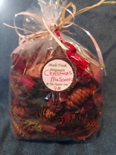 """*New* Freshly hand Scented """"Christmas Mulberry"""" 9oz Bag of Potpourri!"""