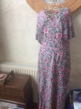👗Size 18(46) -small- Fit 16 Floral Dress👗 From Monsoon Holiday/ Party