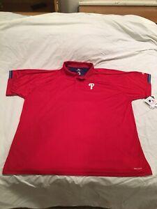 Philadelphia Phillies Polo Shirt, Majestic Brand, Size 4X, NWT!