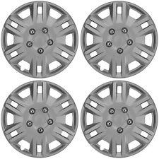 "Detroit 13"" Car Wheel Trims Hub Caps Plastic Covers Silver Universal (4Pcs)"