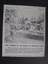 VTG WWII March 17 1943 Tel-Pics War Bonds Poster Bren Gun Carrie  Army Truck