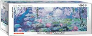 Water Lilies Claude Monet Panoramic 1000 piece jigsaw puzzle 960mm x 320mm (pz)