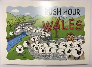 Rush Hour In Wales Humorous Postcard