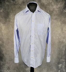 "ETON Blue & White Check Shirt Classic Fit Size 42 16.5"" Signature Twill PTP 24"""