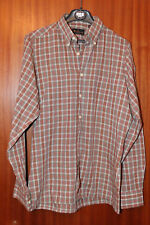 VINTAGE ben Sherman Maglietta, GREEN-RED-WHITE checked, Size S, long sleeve
