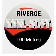 Riverge REEL SOFT Fluorocarbon 100m MAINLINE Leader Coarse Fly Fishing SEAGUAR