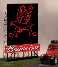 BUDWEISER BEER EAGLE ANIMATED BILLBOARD SIGN  HO-SCALE BY MILLER ENGINEERING!