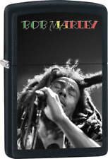 Bob Marley - Singing Black Matte Zippo Lighter