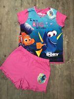 Girls Disney Finding Dory Top & Short Pyjamas Set Pj's Age 18 - 24 Months Nemo