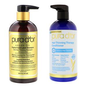 Pura D'or Gold Label Anti-Hair Thinning Shampoo Conditioner Hair Loss Treatment