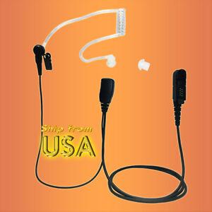 Coodio 2 Cable Motorola CLP446 Radios Earphones C-Ring Security Headset Mi...