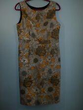 Liberty of London Target Dress Women SZ 10 US 12 UK Sateen Shift Yellow Dunclare