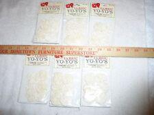 36 Cream Fabric Yo-Yo's (40mm)in 6 packages by Wang's International, Memphis Tn.