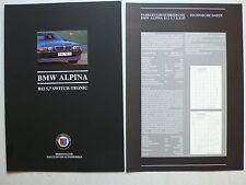 Prospekt Alpina BMW B12 5.7 Switch-Tronic, 9.1995, 8 S. + Fahrzeugbeschreibung
