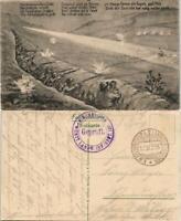 Ansichtskarte  Militaria WK1 - Schützengraben gel. Feldpost 1915